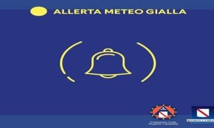 Campania: allerta meteo gialla prorogata