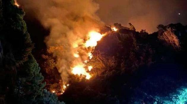 Incendi in costiera: distrutti 20 ettari di vegetazione