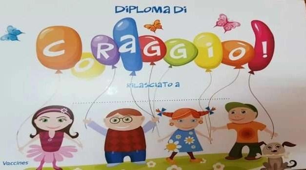 Asl Napoli 2 Nord. Diploma di coraggio per i bambini