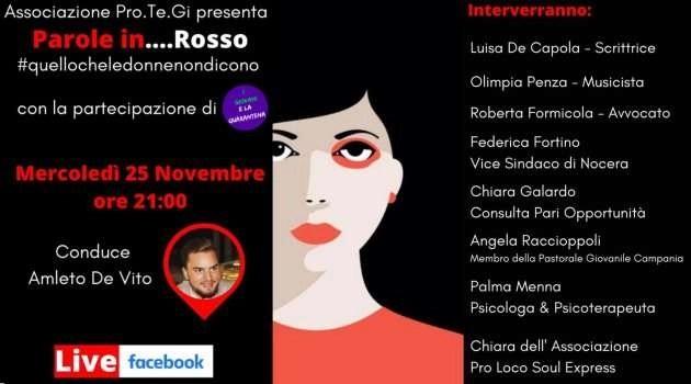 Giornata contro la violenza sulle donne. Parole in…Rosso