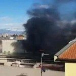 Napoli, cronaca Incendio in un deposito ad Arzano