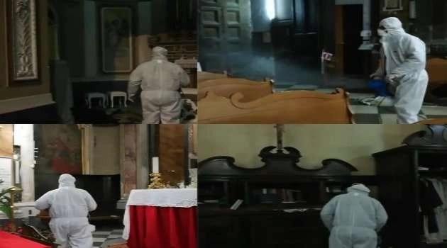 Melito. Sanificata la chiesa Santa Maria delle Grazie