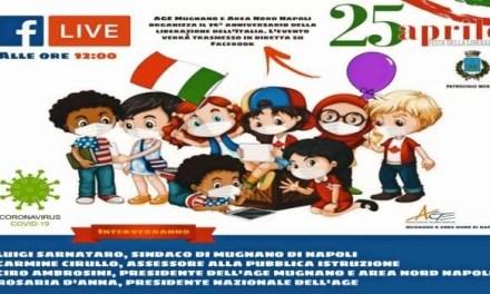 Mugnano.Festa della Liberazione, due bambini in piazza Municipio con il tricolore per ricordare le vittime della guerra