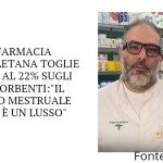 """Farmacia napoletana toglie l'IVA al 22% sugli assorbenti:""""Il ciclo mestruale non è un lusso"""""""