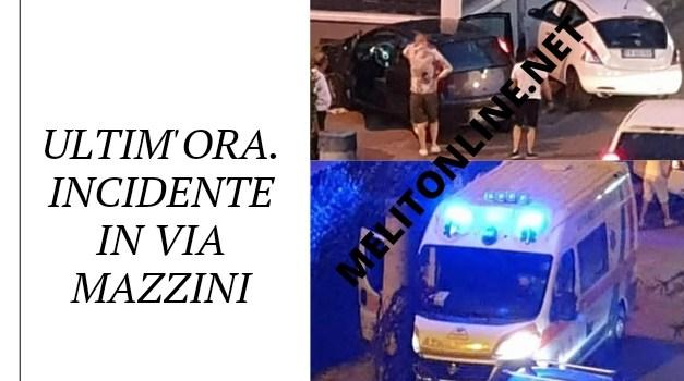 ULTIMA ORA. Incidente in Via Mazzini