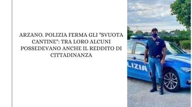"""Arzano. Polizia ferma gli """"svuota cantine"""": tra loro alcuni possedevano anche il reddito di cittadinanza"""