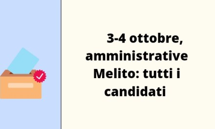 3-4 ottobre, amministrative Melito: tutti i candidati