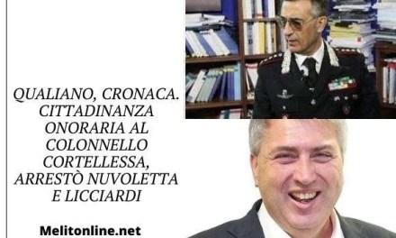 Qualiano, cronaca. Cittadinanza onoraria al colonnello Cortellessa, arrestò Nuvoletta e Licciardi