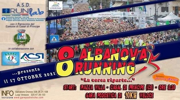 8° Albanova Running: Domenica 17 ottobre si correrà a Casal di Principe