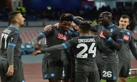 EUROPA LEAGUE: IL NAPOLI SI ALLENA E SI DIVERTE
