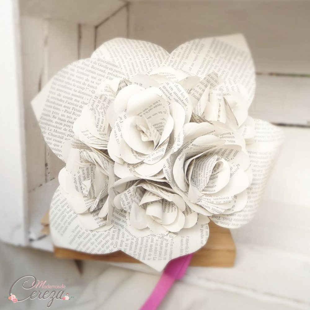 Bouquet De Mariee Original Atypique Rond Roses De Papier