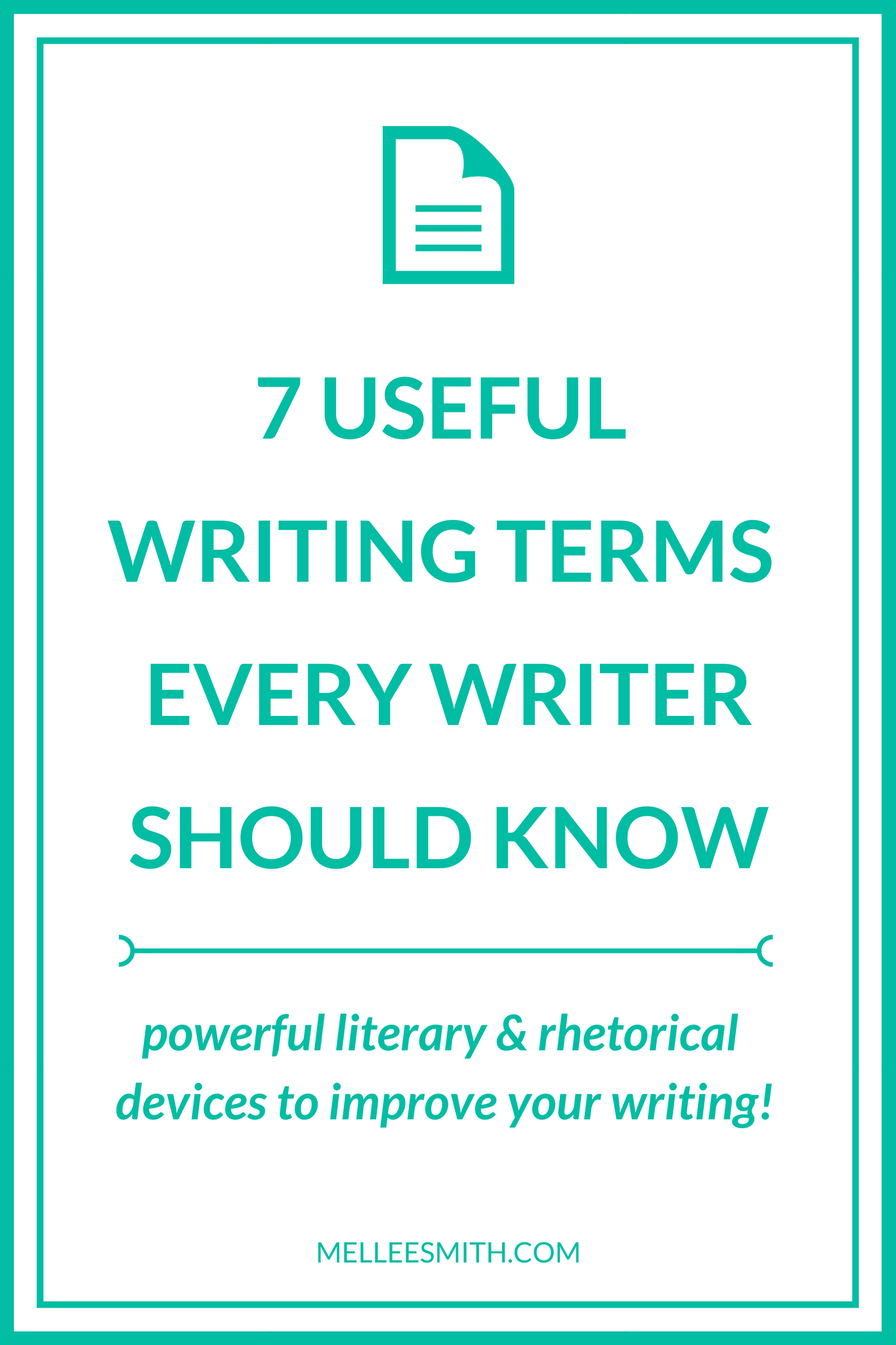 useful writing terms, useful terms for writers, useful writing terms every writer should know