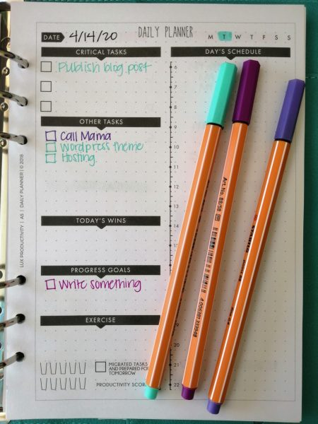 organization tools for writers