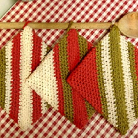 Crochet Folded Potholders