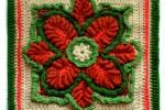 Kale Crochet Square for Carrots Swap