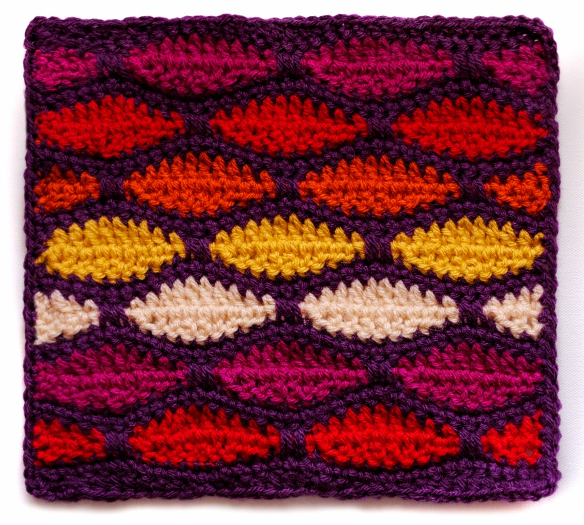 Stained Glass Crochet Square   mellie blossom