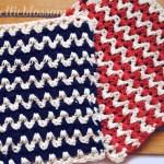 Free Crochet Dishcloth Pattern Zigzag
