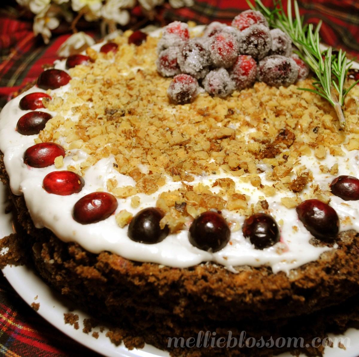 Cranberry Chocolate Cake