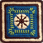 Crochet Raindrop Block Square