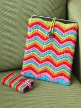 Crochet Gifts for Men - Rainbow Stripes Phone and Tablet Cover
