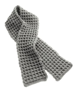 Crochet Gifts for Men - Waffle Scarf