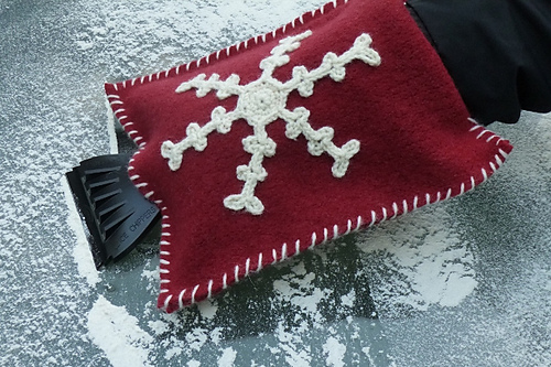 Crochet Gifts for Men - Felted Ice Scraper