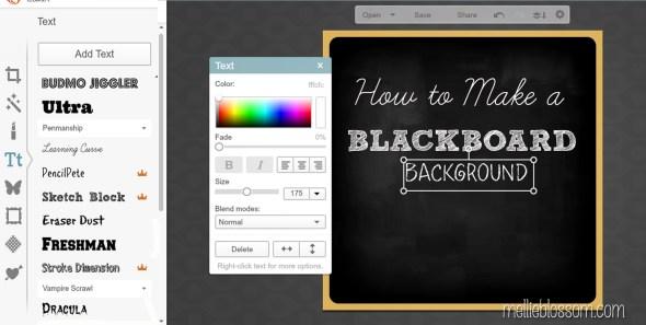 Blackboard Background in PicMonkey