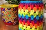 Rainbow Crochet Jars