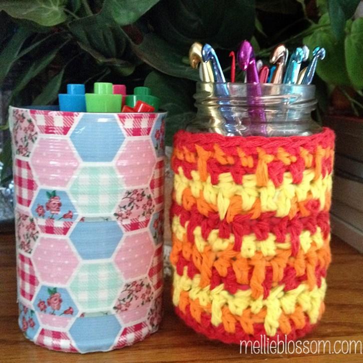 reuse jars and cans - mellieblossom.com