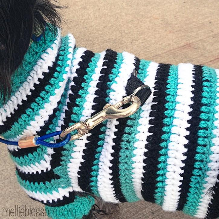 Crochet Dog Sweater - mellieblossom.com