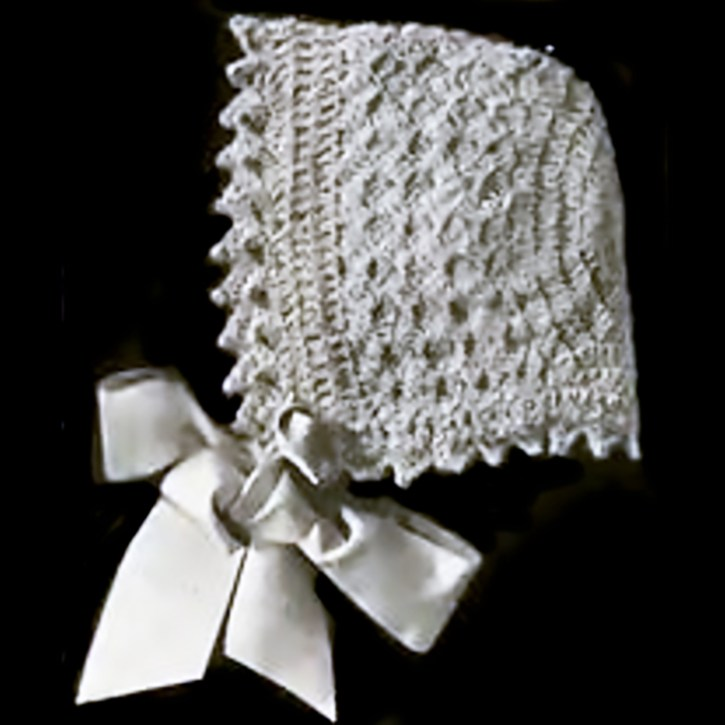 Infant's Crocheted Hood by Anna Schumacker