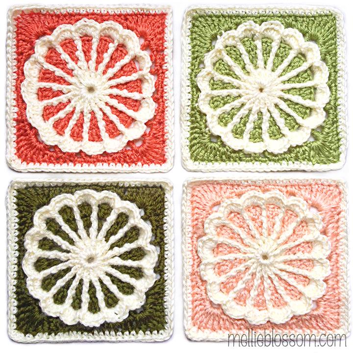 Carousel Crochet Square - mellieblossom.com