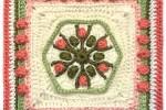 Popcorn and Winter Nights Crochet Square - mellieblossom.com