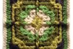 Around the Posts crochet square - mellieblossom.com
