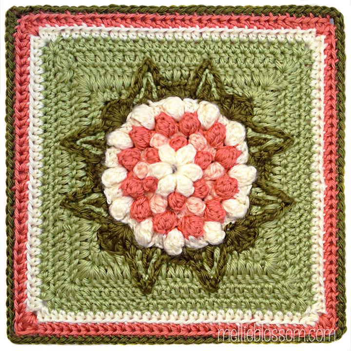 Walking on Sunshine Crochet Square - mellieblossom.com