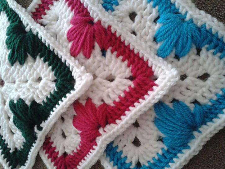 Leaf Stitch Granny Square
