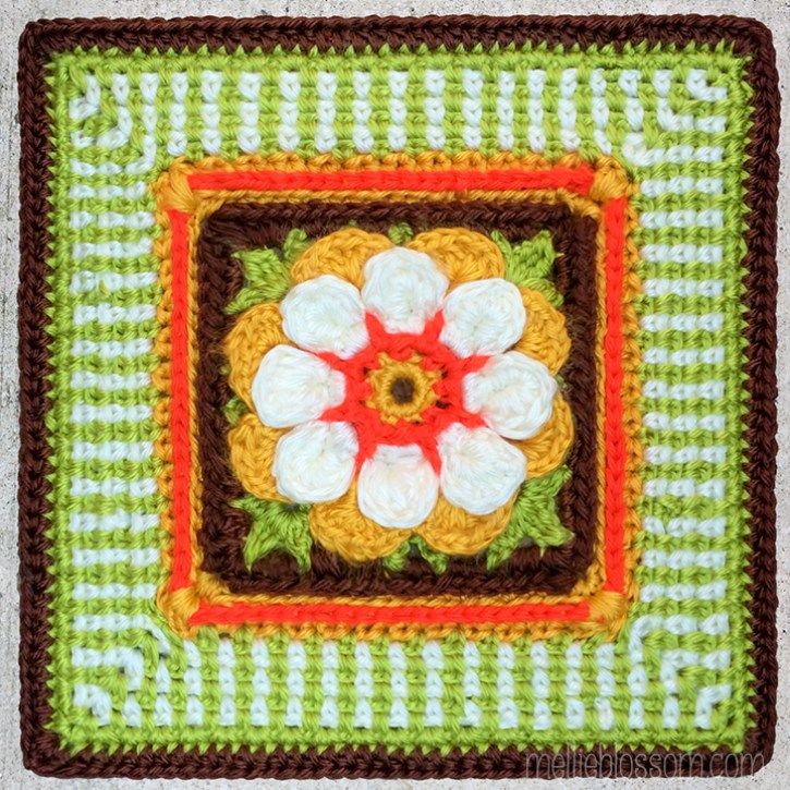 Moon Blossom Square -New Crochet Projects - mellieblossom.com