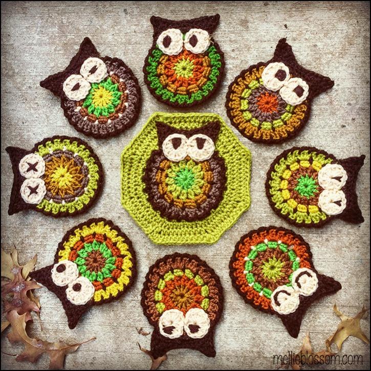 In Progress Crochet Owl Blanket Mellie Blossom