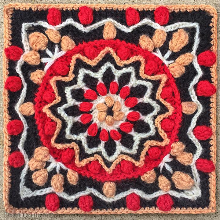 Rebirth Crochet Square - Crochet Along Squares - mellieblossom.com