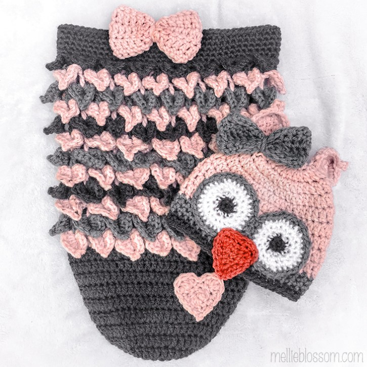 Crochet Owl Cocoon For Alice Mellie Blossom