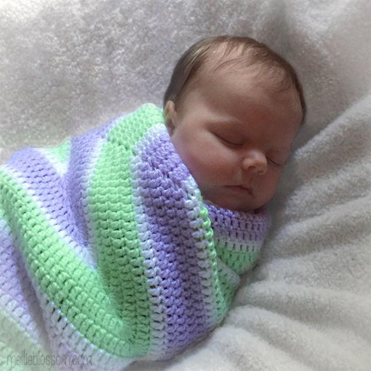 Crochet Star Blanket for Baby - mellieblossom.com