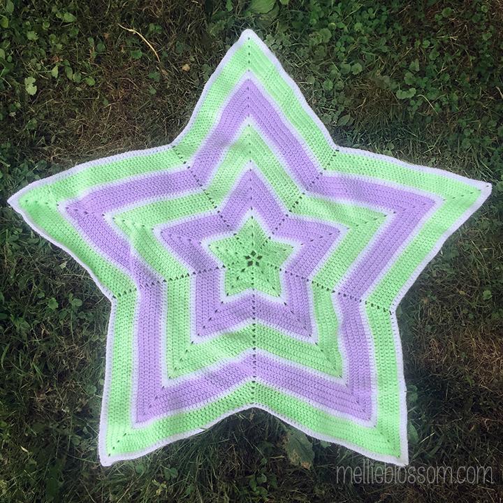 4eb046ad0 Crochet Star Blanket for Baby