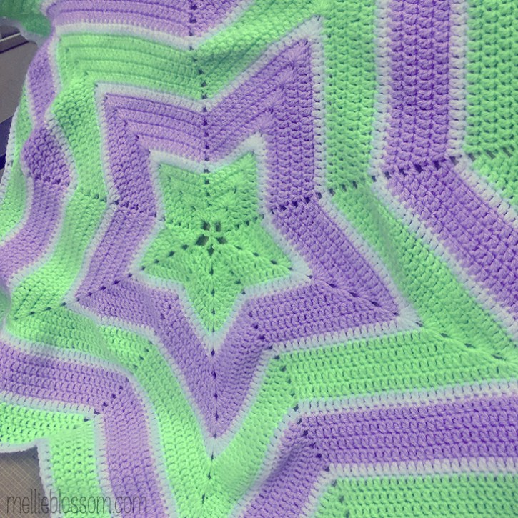 Crochet Star Blanket for Baby - mellieblossom.com