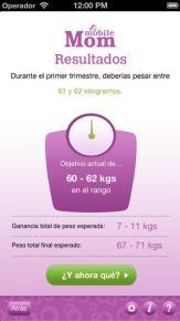 App Calcula tu peso durante el embarazo