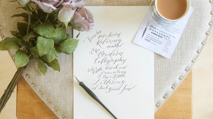 Modern Wedding Calligraphy workshop with Mellor&Rose in Lancashire // Lytham, Preston, Blackpool, Liverpool, Lancaster, Clitheroe, Manchester, Harrogate, Southport