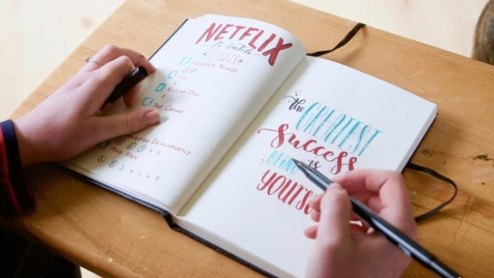 Bullet Journal Calligraphy and Hand lettering with Mellor and Rose Calligraphy Journal // Mellor & Rose