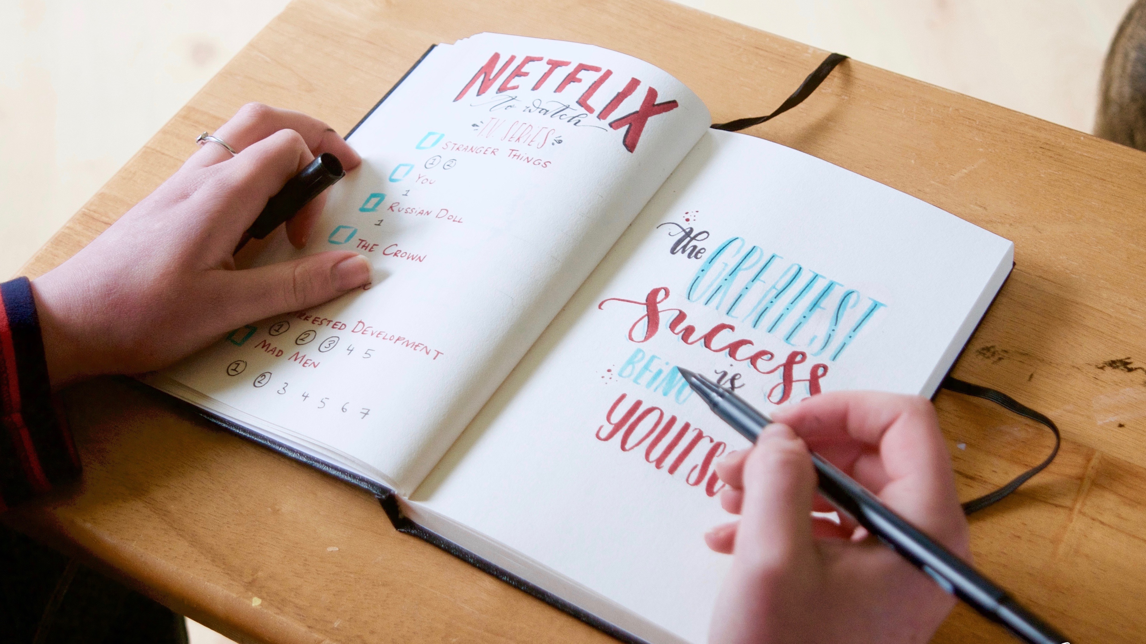 Bullet Journal Calligraphy and Hand lettering with Mellor and Rose // Mellor&Rose