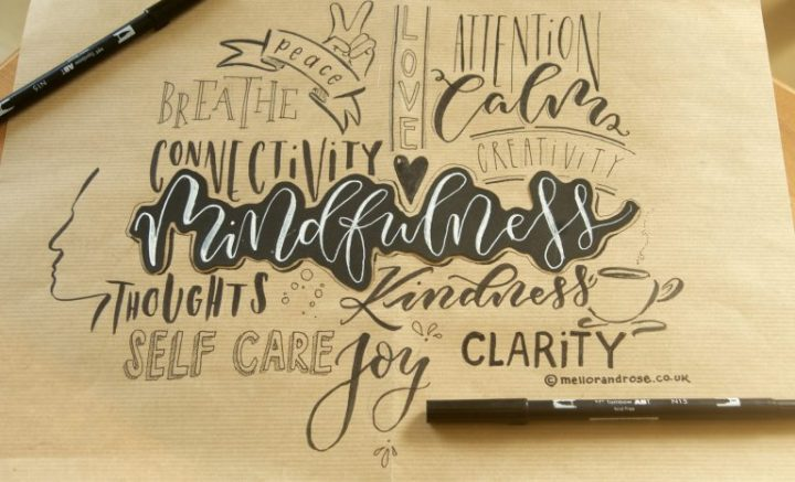 How Mindful Calligraphy combats Stress with Mellor and Rose Calligraphy Journal // Mellor & Rose