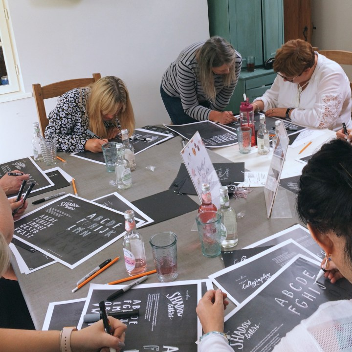 Chalk Lettering workshop with Mellor & Rose Calligraphy in Lancashire