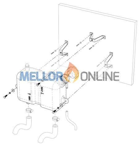 Eberspacher or Webasto Header Tank Kit Horizontal with